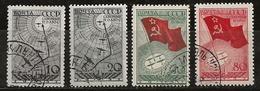 Russie 1938 N°Y.T. ;  617 à 620 Obl. - 1923-1991 USSR