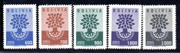 APR1852 - BOLIVIA 1960 , Posta Aerea Serie Yvert N. 189/193 ***  MNH (2380A) - Bolivia