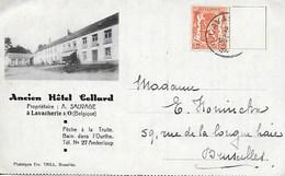 SAINTE-ODE. LAVACHERIE SUR OURTHE. ANCIEN HOTEL COLLARD. CARTE LETTRE MULTIVUES - Sainte-Ode