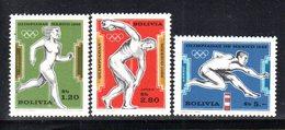APR1855 - BOLIVIA 1969 , Posta Aerea Serie Yvert N. 280/282 ***  MNH (2380A) Massico 1968 - Bolivia