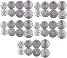 Korea North - 5 Pcs X Set 4 Coins 5 10 50 100 Won 2005 AUNC Lemberg-Zp - Korea (Nord-)