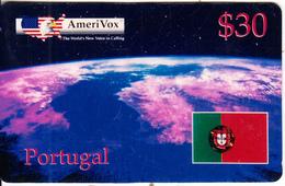 USA - Portugal, Amerivox Test Prepaid Card $30, Tirage 100, 01/95, Unused - Stati Uniti