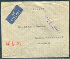 1939 Iraq Baghdad Airmail KLM Cover - Copenhagen Denmark. By Airmail Only To Munich - Iraq