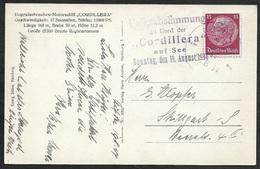 1934 - DR - Seepost -  Sonderstpl Volksabstimmung An Bord Der Cordillera Auf See - Selten - Allemagne