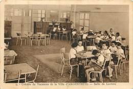 85  Vendée :  Saint Hilaire De Riez Colonie De Vacances De La Ville D' ARGENTEUIL -  Salle De Lecture  Réf 6792 - Saint Hilaire De Riez