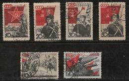 Russie 1938 N°Y.T. ;  621 à 627B -624 Obl. - 1923-1991 USSR