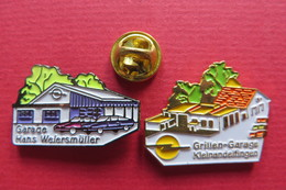2 Pin's,OPEL GARAGE, Hans Weiersmüller,Grillen-Garage Kleinandelfingen - Opel