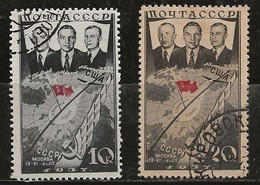 Russie 1938 N°Y.T. ;  628 Et 629 Obl. - 1923-1991 USSR