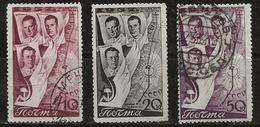 Russie 1938 N°Y.T. ;  632 à 634 Obl. - 1923-1991 USSR