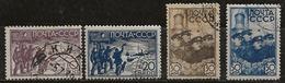 Russie 1938 N°Y.T. ; 647 à 650 Obl. - 1923-1991 USSR