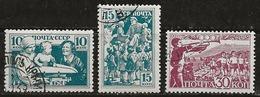 Russie 1938 N°Y.T. ; 651,652 Et 654 Obl. - 1923-1991 USSR