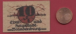 Allemagne 1 Notgeld 10 Pfenning Stadt Brandenburg(RARE)  Dans L 'état   Lot N °4164 - [ 3] 1918-1933 : République De Weimar
