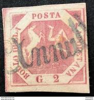 Napoli 2 Grana III Tavola, Annullo Svolazzo Tipo 14 - Napoli