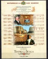 SAN MARINO - 2004 - RIAPERTURA DEL TEATRO ALLA SCALA DI MILANO - FOGLIETTO - SOUVENIR SHEET - MNH - San Marino