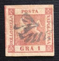 Napoli 1 Grano II Tavola, Annullo Svolazzo Tipo 36 - Napoli