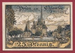 Allemagne 1 Notgeld 25 Pfenning Stadt Prien (RARE )  Dans L 'état   Lot N °4168 - Collections