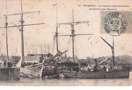 CPA PAIMPOL (22) LE DEPART DES ISLANDAIS - LA SORTIE DES BASSINS - Paimpol