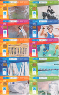 GREECE - Set Of 26 Cards, Olympic Games, Painting/G.Hatzakis, 05-06-07-08/04, Used - Greece