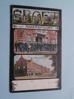 Groet Uit AMERSFOORT Infanterie Kazerne / Wachtparade ( Schaefers ) Anno 1907 ( Zie/voir Foto Voor Details ) ! - Kasernen