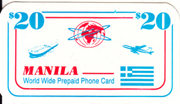 USA - Cosmos Hellas Global Satellite Prepaid Card $20, Used - Greece
