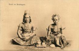 Indonesia, JAVA YOGYAKARTA DJOKJA, Bride And Groom, Jewelry (1910s) Postcard - Indonesië
