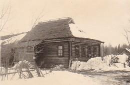 Foto Bauernhaus Holzhaus Osteuropa Winter - Ca. 1940 - 8*5,5cm  (42529) - Lieux