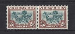 SOUTH AFRICA..KING GEORGE VI.(1936-52)...2/6  X PAIR....SG121......MH. - Ongebruikt