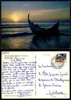 PORTUGAL COR 57302 - COSTA DA CAPARICA - BARCO E PRAIA - Setúbal