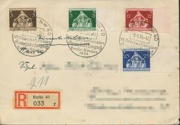 Deutsches Reich 1936 Int. Gemeindekongress 617/20 SST Auf R-Brief (X18098) - Deutschland