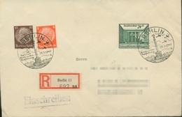 Deutsches Reich 1940 Briefmarken-Ausstellung 743 SST Auf R-Brief (X18114) - Storia Postale
