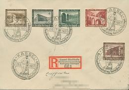 Deutsches Reich 1936 WHW Mod. Bauten 640 MiF SST Auf R-Brief (X18104) - Storia Postale