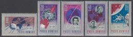 ROUMANIE 1967 5 TP 10è Année De Conquêtes Spatiales N° 2273 à 2277 Y&T Neuf ** - 1948-.... Republiken