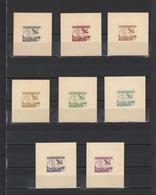 ++ 1950 Aviapost 3 Lei Nominal In Different Colour Thick Paper Colour Proof - Essais, épreuves & Réimpressions