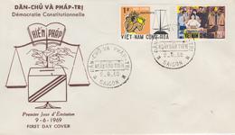 Enveloppe  FDC   1er  Jour   VIETNAM    Democratie  Constitutionnelle    1969 - Viêt-Nam