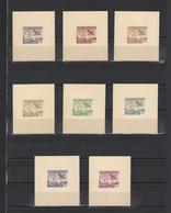 ++ 1950 Aviapost 6 Lei Nominal In Different Colour Thick Paper Colour Proof - Essais, épreuves & Réimpressions