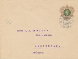 Nederlands Indië - 1923 - 22,5 Cent Wilhelmina, Envelop G35 Van LB AMAHAI Via Amboina Naar  Amsterdam / Nederland - Niederländisch-Indien