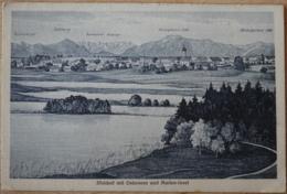 Iffelsdorf Mit Osterseen Und Marien-Insel Rabenkopf Jochberg Karwendel Gebirge Herzogstand Heimgarten - Deutschland