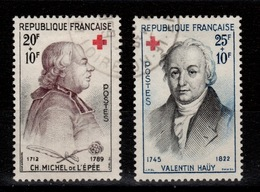 YV 1226 & 1227 Oblitérés Croix Rouge 1959 Cote 5,50 Euros - France
