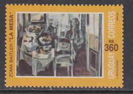 1991 Uruguay Art Paintings Complete Set Of 1 MNH - Uruguay