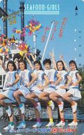 Télécarte Japon / 330-8383 - DISNEY Rel - FEMME - ** SEAFOOD GIRLS ** & Ballons - GIRL & Balloon Japan Phonecard - Disney