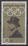 Germania 1968 Sc. B434 Carl-Friedrich Von Langen Equitazione Ippica 2 Oro Dressage Amsterdam 1928 Nuovo MNH - Summer 1928: Amsterdam