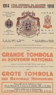 1951: 1914 – 1918: LIGUE NATIONALE Du SOUVENIR / NATIONALE LIGA Der HERDENKING: ## GRANDE TOMBOLA Du Souvenir National - Billets De Loterie
