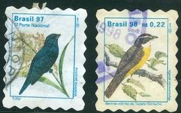 """BRAZIL # R758  -  URBAN BIRDS  - """" BEM-TE-VIZINHO And  TIZIU"""" -  USED - Brazil"""
