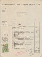 1945: St.-Amandusinstituut, GENT / Institut St.-Amand, GAND : Rekening Van / Note De Mr. COCQUYT. - Diplômes & Bulletins Scolaires