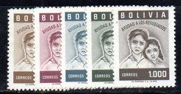 APR1865 - BOLIVIA 1960 ,  Serie Yvert N. 319/325  ***  MNH  (2380A) Rifugiati - Bolivia