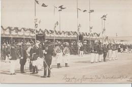 BIZERTE - Carte Photo D'une Remise De Décorations Par Le Général  Delarue Le 14 Juillet 1907 Devant Le Fond Des Troupes. - Túnez