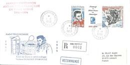TAAF - Dumont D'Urville-T.Adélie: Lettre Avec Triptyque N°183 Hommage à Météo France En Antarctique - 01/01/1993 - Lettres & Documents
