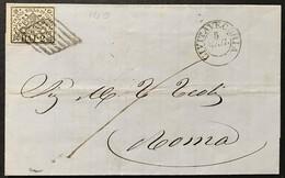 Stato Pontificio 2 Baj, Civitavecchia 5/5 (1866), Annullo Senza Anno - Stato Pontificio