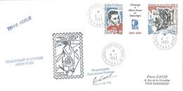 TAAF - Dumont D'Urville-T.Adélie: Lettre Avec Triptyque N°183 Hommage à Météo France En Antarctique - 04/01/1993 - Lettres & Documents