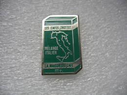 Pin's Des Cafés TROTTET, Paquet De 250 Grs De Mélange Italien. La Maison Du Café - Beverages